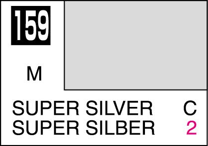 MR COLOR C159  Super Silver Metallic Gloss 10ml