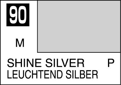 MR COLOR C90 Shine Silver Metallic Gloss 10ml