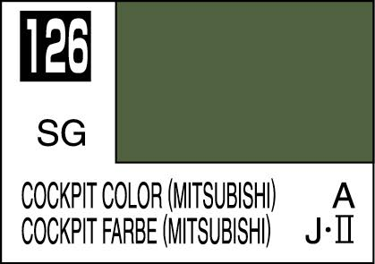 MR COLOR C126  Cockpit Color (Mitsubishi) Semi-Gloss 10ml