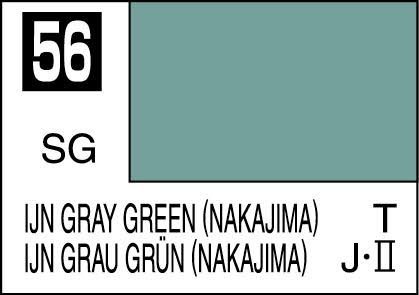 MR COLOR C56 IJN Gray Green (Nakajima) Semi-Gloss 10ml