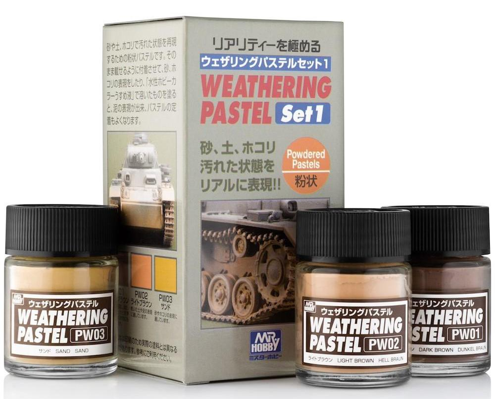 MR HOBBY PP-101 No.1 Weathering Pastel Set