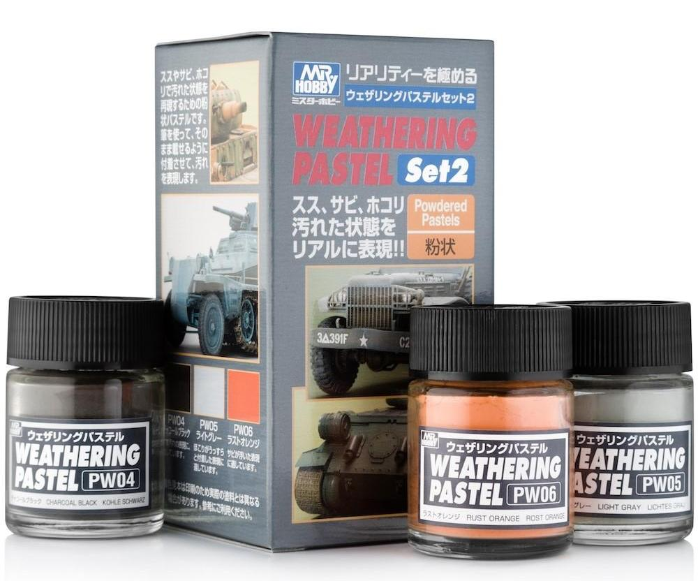 MR HOBBY PP-102 No.2 Weathering Pastel Set