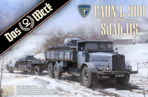 DAS WERK DWA004 Sd.Ah.115 Faun Wheels Country type 1:35 Scale