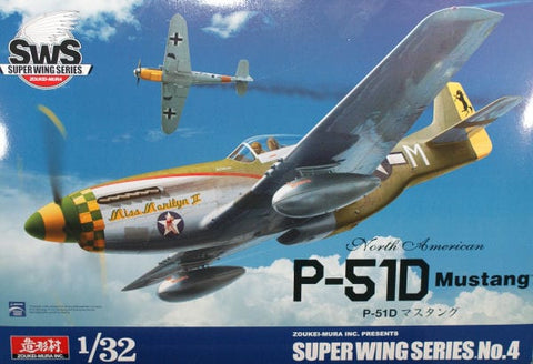 Zoukei-Mura SWS04 1/32nd scale model kit P-51D Mustang