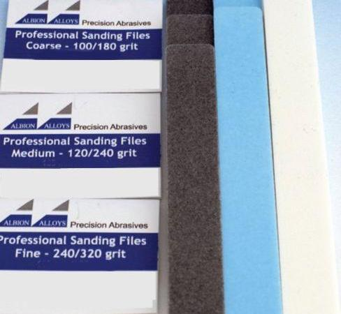 ALBION ALLOYS 541  20mm Sanding Files Selection Pack