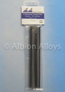 ALBION ALLOYS 141 3mm 12 Pack Sanding Files Coarse 100/180 Grit Grey