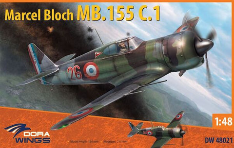 DORA WINGS DW48021 Marcel-Bloch MB.155С 1:48 Scale