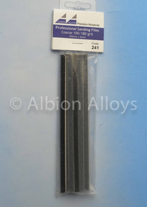ALBION ALLOYS 241 6mm 10 Pack Sanding Files Coarse 100/180 Grit Grey