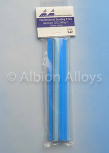 ALBION ALLOYS 242 6mm 10 Pack Sanding Files Medium 120/140 Grit Blue