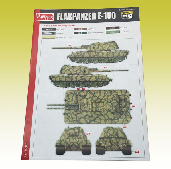 AMUSING HOBBY 35A016 88mm Flakzwilling Flakpanzer E-100  1:35 Scale