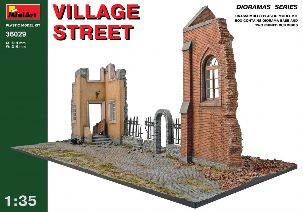 MINIART 36029 VILLAGE STREET 1:35 Scale