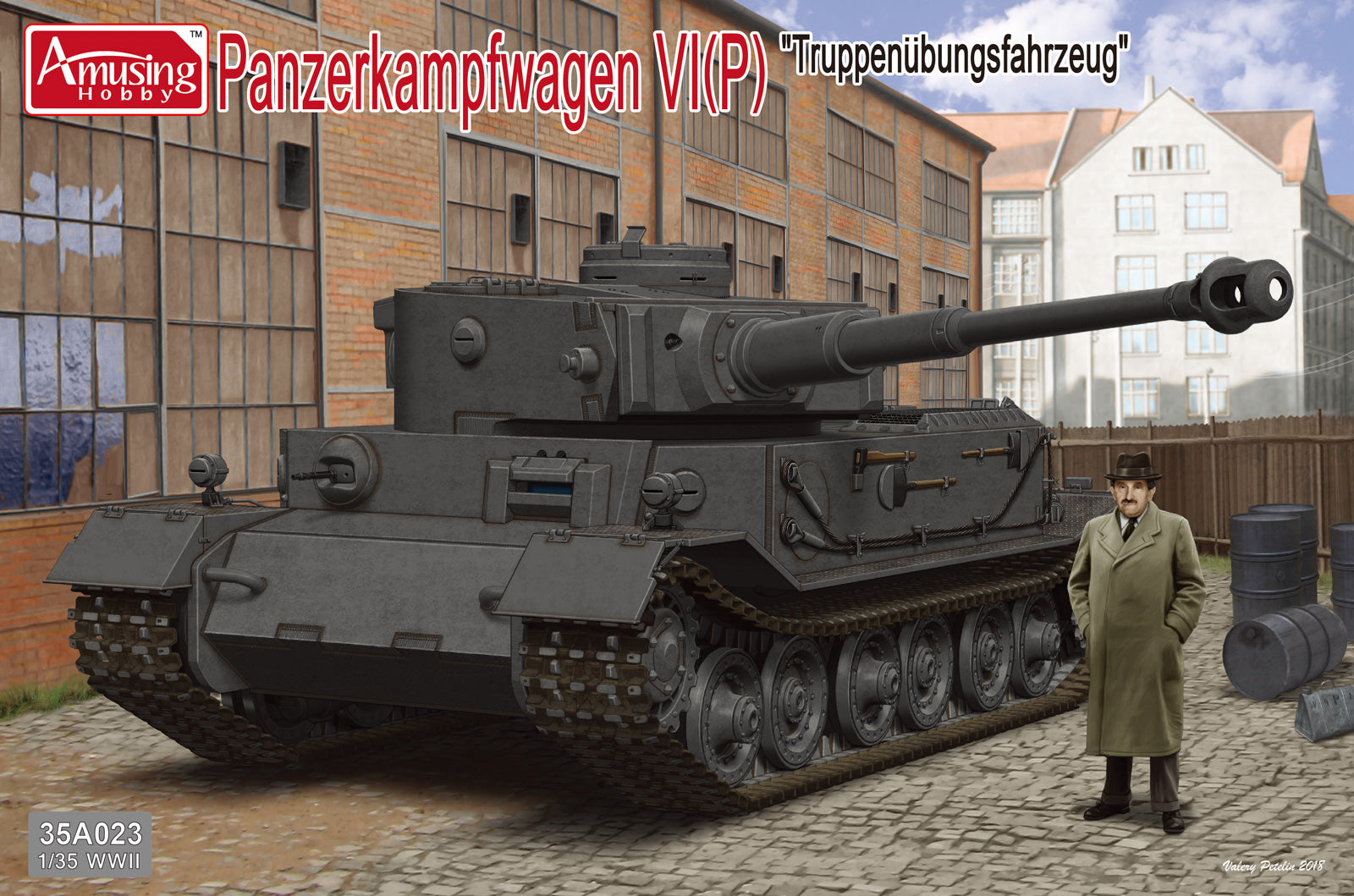 Amusing Hobby 1/35 Pz.Kpfw.VI Tiger(P) with Resin Figure of Ferdinand Porsche #35A023