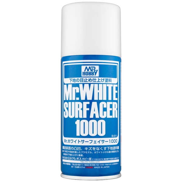 MR HOBBY B511 MR.WHITE SURFACER 1000 SPRAY