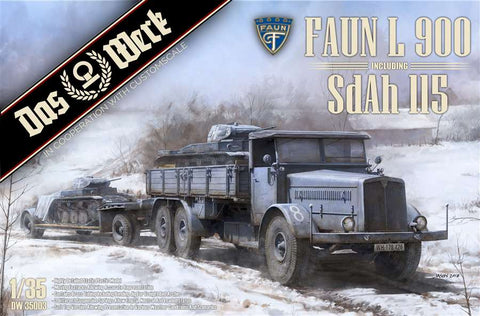 DAS WERK FAUN 35003 L 900 plus Sd.Ah.115 10t  1:35 Scale