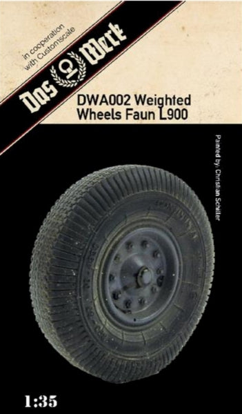 DAS WERK DWA002 Weighted Wheels Faun L900  1:35 Scale