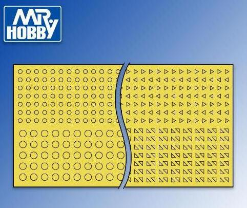 MR HOBBY GT71 Round & Triangle Masking Sheets Mr Hobby GT-71