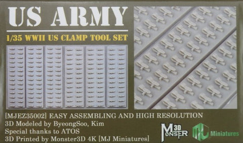 MJ MINIATURES MJEZ35002 WWII US Tool Clamp Set 1:35 Scale