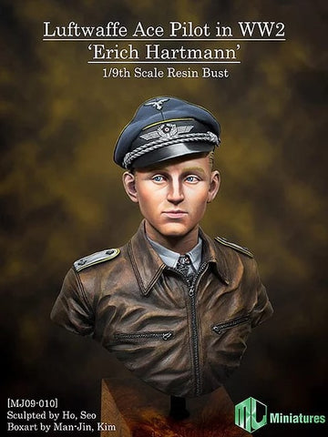 MJ MINIATURES MJ09-010 Lufftwaffe Ace Pilot in WW2, Erich Hartmann 1:9 Scale