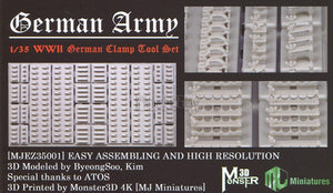 MJ MINIATURES MJEZ35001 WWII German Clamp Tool Set 1:35 Scale