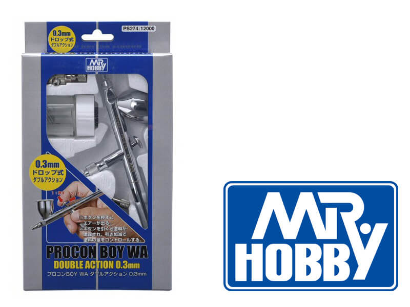 MR HOBBY PS-274  Mr Procon Boy WA Double Action 0.3mm airbrush