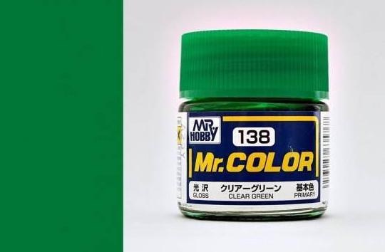 MR COLOR C138 Clear Green Gloss 10ml
