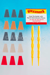 FLEX-I-FILE CS321 Cone Tip Sander – Assorted Grits & 2 Applicator Handles