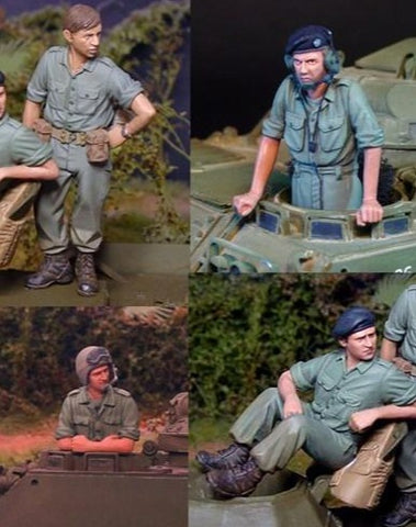 CALLSIGN MODELS CS35050 Australian Tank Crew set Vietnam 1:35 Scale