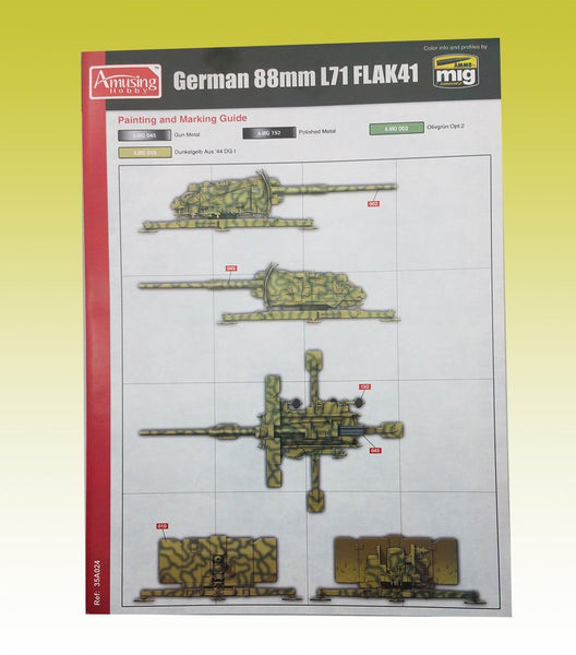 AMUSING HOBBY 35A024 GERMAN 88MM L71 FLAK41 - 1:35