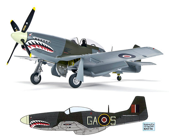 Zoukei-Mura SWS09 1/32nd scale model kit P-51D/K Mustang IV RAF Fighter