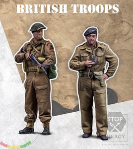SCALE75 SW72010 BRITISH TROOPS 1:72 Scale Resin