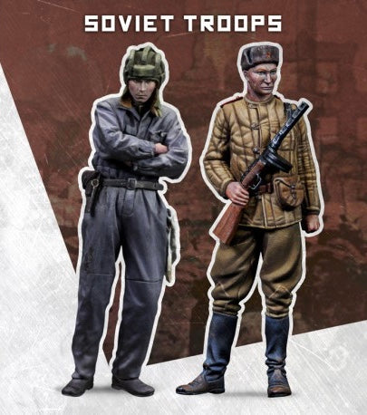 SCALE75 SW72008 SOVIET TROOPS 1:72 Scale Resin