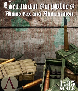 SCALE75 SW35005 AMMO BOXES AND AMMUNITION FOR TIGER I TANK 1:35 Scale Resin