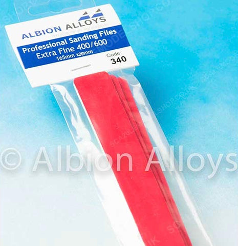 ALBION ALLOYS 340 20mm Extra Fine Sanding Files