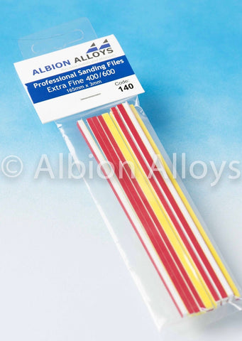 ALBION ALLOYS 140 3mm Extra Fine Sanding Files 400/600