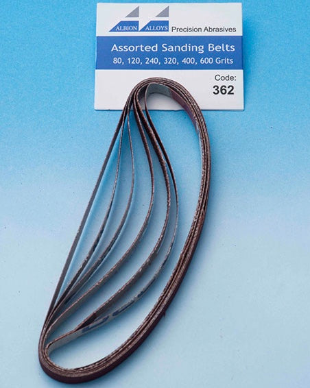 ALBION ALLOYS 362 5pk Sanding Stick Replacement Belts Assorted grit