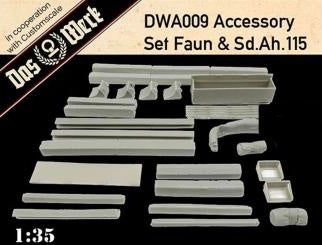 DAS WERK DWA009 Accessory set for Faun and Sd.Ah.115  1:35 Scale