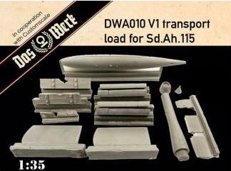 DAS WERK DWA010 V1 Transport Load for Sd.Ah.115  1:35 Scale