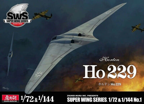 ZOUKIE MURA SWS72-144-01 Horten Ho 229 two kits 1/7 2 & 1/144 Scales