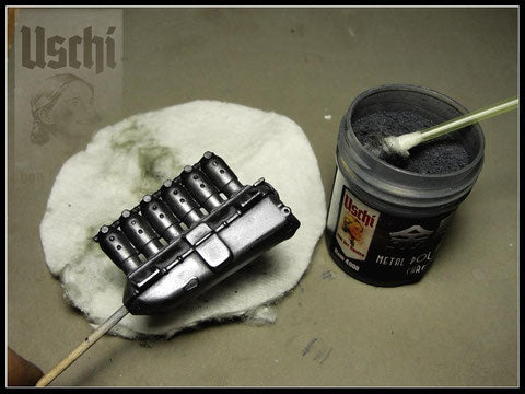 USCHI VAN DER ROSTEN 4008 25ml Chrome Metal Polishing Powder