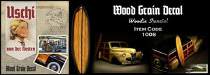 USCHI VAN DER ROSTEN 1008 Woodgrain Decal Aircraft Woody Special  1:24-1:35 Scale
