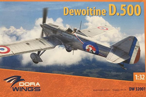 DORA WINGS DW32001 Dewoitine D.500 1:32 Scale