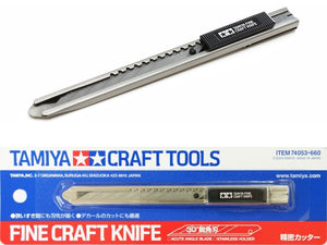 TAMIYA 74053 Fine Craft Knife Slimline Stainless Steel Snap Blade with Pocket Clip