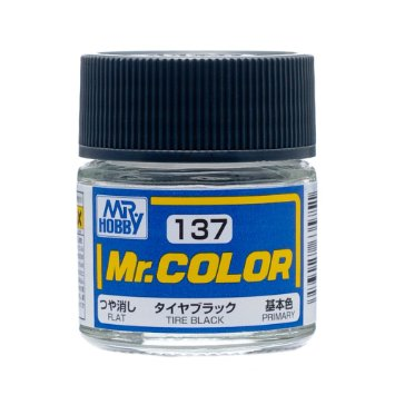 MR COLOR C137  Tire Black Flat 10ml