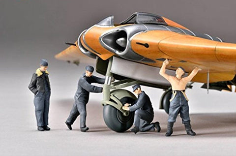 Zoukei Mura SWS4803-F02 1:48 Ho-229 Ground Crew Set - 4 Resin Figures