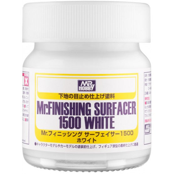 MR HOBBY SF291 Mr.FINISHING SURFACER 1500 WHITE BOTTLE TYPE