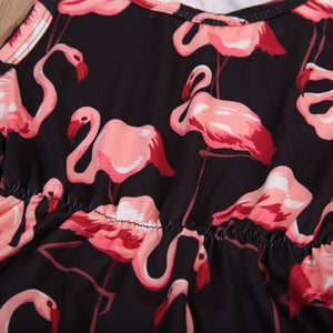 Flamingo Romper and headband