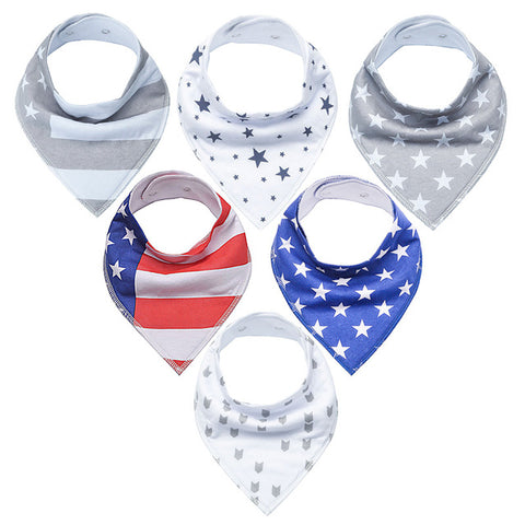 Image of 6-piece Bandana Bibs