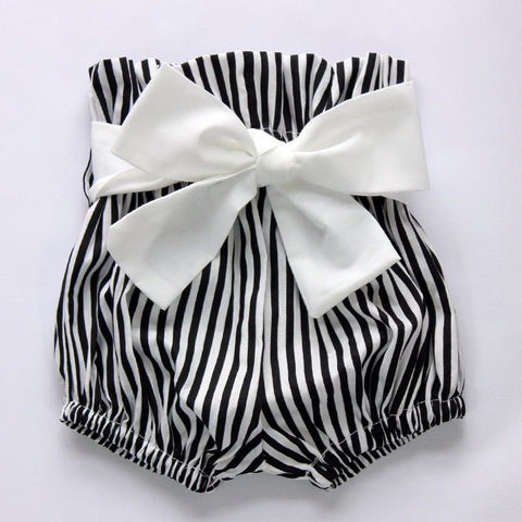 Romper with Striped Shorts and headband