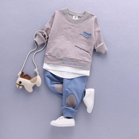 Image of Casual Shirt Top and Pants - Sizes 9M-24M