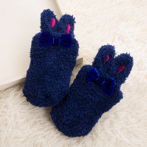 Rabbit Ears Fleece Socks